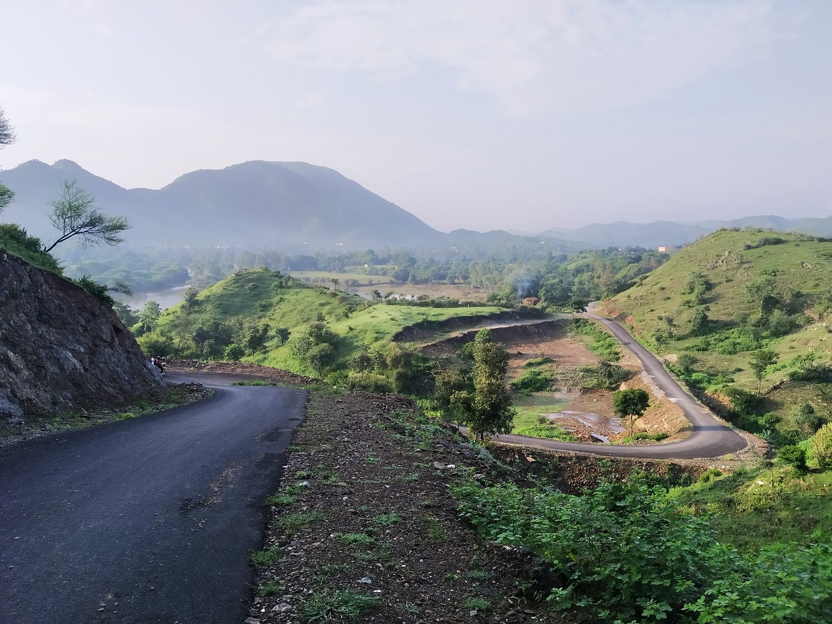 a countryside road near Chokadiya